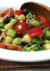 いろいろ豆のコロコロサラダ
