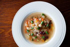 粒こんにゃく入りミラノ風野菜スープ