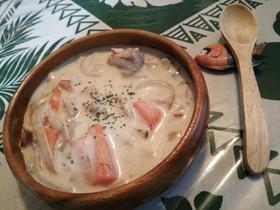 クリームマッシュルーム缶で簡単スープ