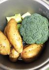 炊飯器で野菜の下ごしらえ