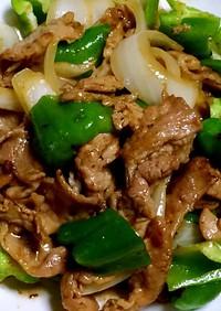 吉田たれソースの豚肉野菜炒め