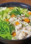 チーズ入りエビワンタンの塩麹鍋
