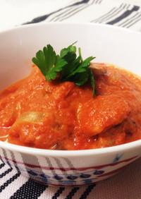 チキンをリメイク!トマトクリーム煮