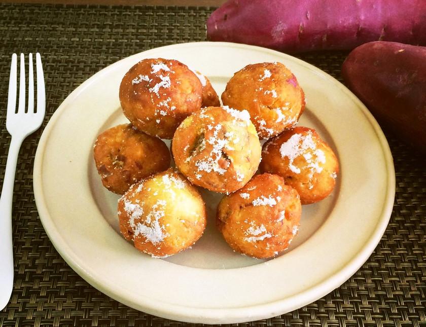 材料3つで簡単♡♥さつま芋ドーナツ