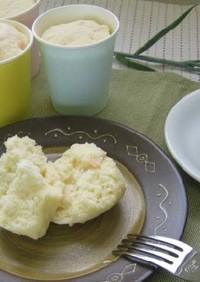 しょうがを使ったカップ蒸しパン