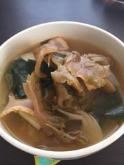 【手抜きすぎる】熱々白菜中華風スープの写真