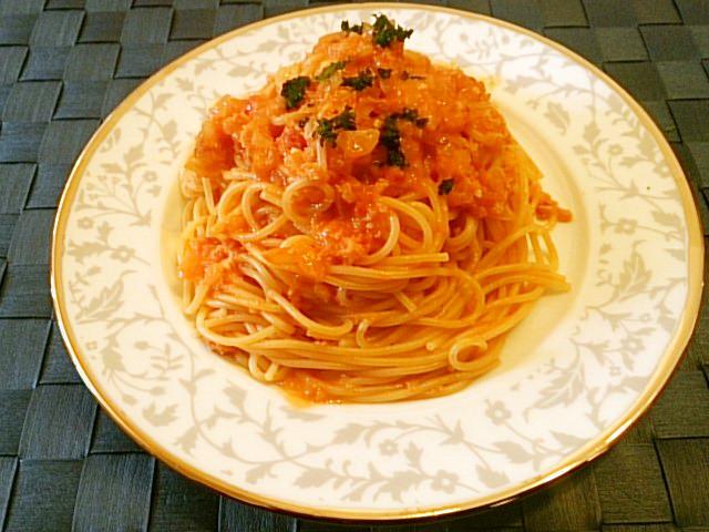 ◆簡単&美味♡カニのトマトスパゲッティ◆