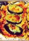 糖質制限♡ベーコンとナスの油揚げピザ♡