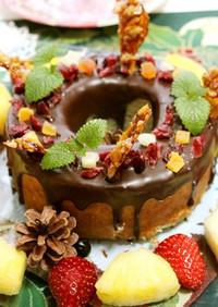 市販のバームクーヘンで簡単チョコケーキ