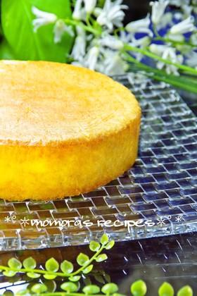 簡単HM材料3つ♡ふわふわスポンジケーキ