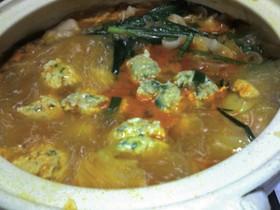 鶏肉団子のキムチ鍋