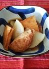 聖護院大根の麺つゆ煮物♪