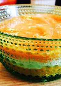 完熟柿とレモンママレードで!簡単デザート