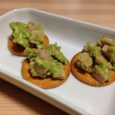 アボガドと魚肉ソーセージのディップ