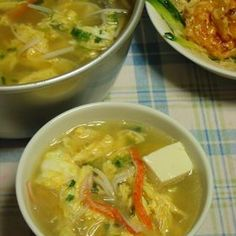 ふんわり卵の具沢山中華風スープ