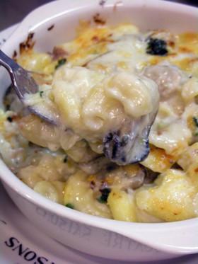 北海道産の牡蠣で贅沢クリームグラタン♪