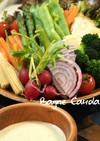 野菜満足!昼夜パーティーにバーニャカウダ