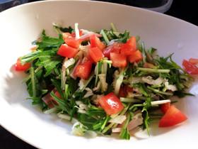 ドレッシングから手作り!プロの水菜サラダ