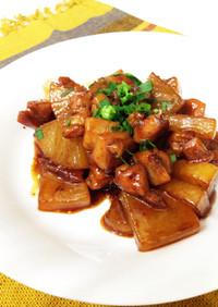 鶏もも肉と大根の炒め煮