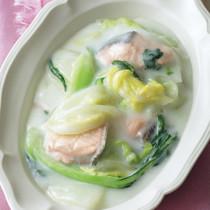 白菜と鮭のミルク煮
