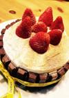 キットカットで簡単デコレーションケーキ!