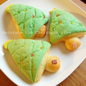 簡単成形!クリスマスツリーのメロンパン