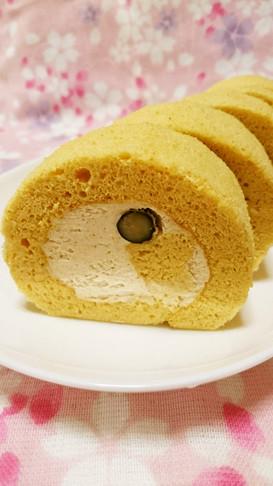 祝話題!きな粉の和風シフォンロールケーキ