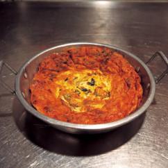 ひき肉と高菜の卵焼き