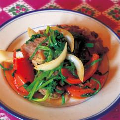 牛肉とセリの炒め物