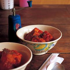 厚揚げの肉詰めトマトソース