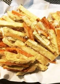 サツマイモの天ぷら(がね揚げ)