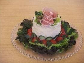 クリスマスに❤サンドイッチケーキ(甘くないお食事ケーキ