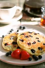 ブルーベリーパンケーキの写真