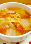 具沢山♪白菜のトマトコンソメスープ