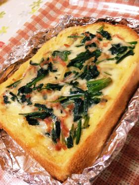 食パン&トースターDE簡単キッシュ