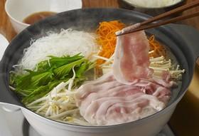 細切り野菜で豚しゃぶ鍋