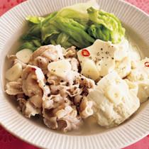 レモン風味の塩肉豆腐