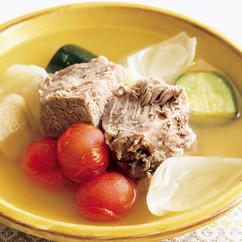 夏野菜と塩豚のポトフ