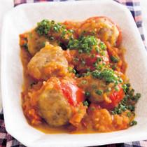 トマトの肉詰め煮