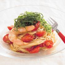 ミニトマトとえびの和風カペッリーニ