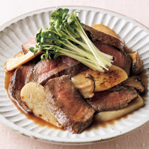 牛ステーキ肉のめんつゆマリネ