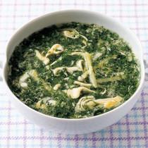 モロヘイヤの中華風かきたまスープ