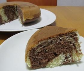 ホケミ+炊飯器で作るマーブルケーキ