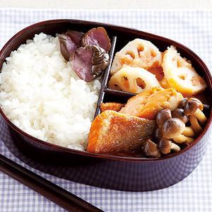 鮭(さけ)としめじの照り焼き弁当