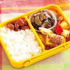 ささ身と野菜のカレー炒め弁当