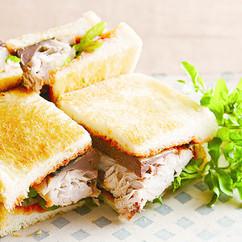さばとクレソンのサンドイッチ