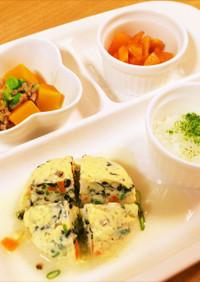 ♡離乳食~鯛とお野菜の卵蒸し♡