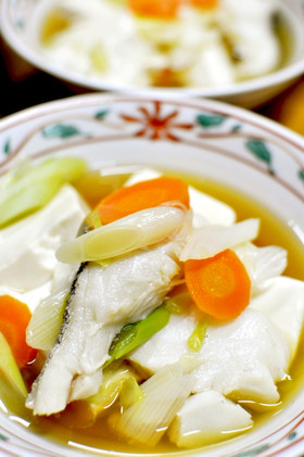 簡単◎タラと豆腐のあっさり炊き