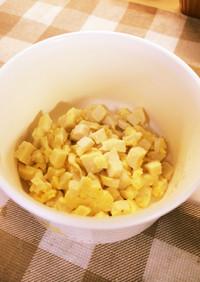 離乳食♪栄養満点の高野豆腐と卵の炒め煮