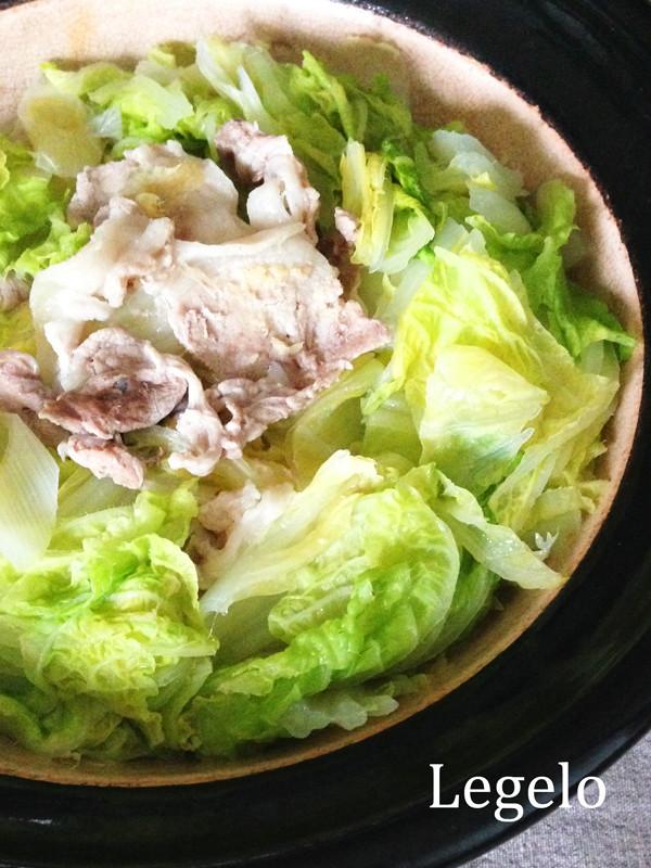 味付けなし超シンプル♪白菜豚肉しょうが鍋